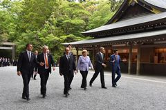 Ise Jingu G7 Summit walking