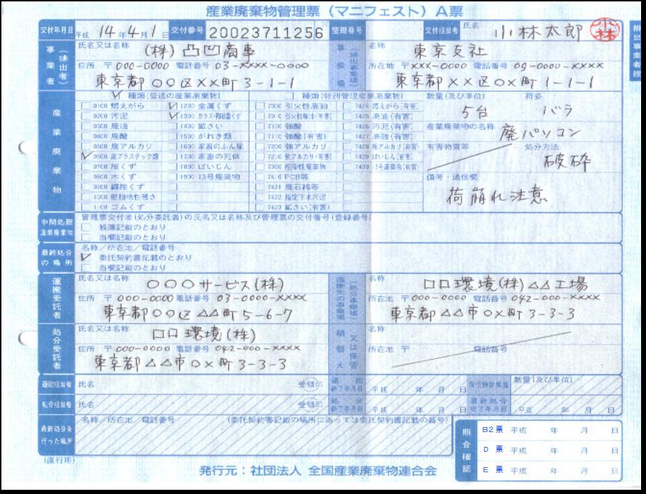 三重県|産業廃棄物:マニフェスト(産業廃棄物管理票)制度